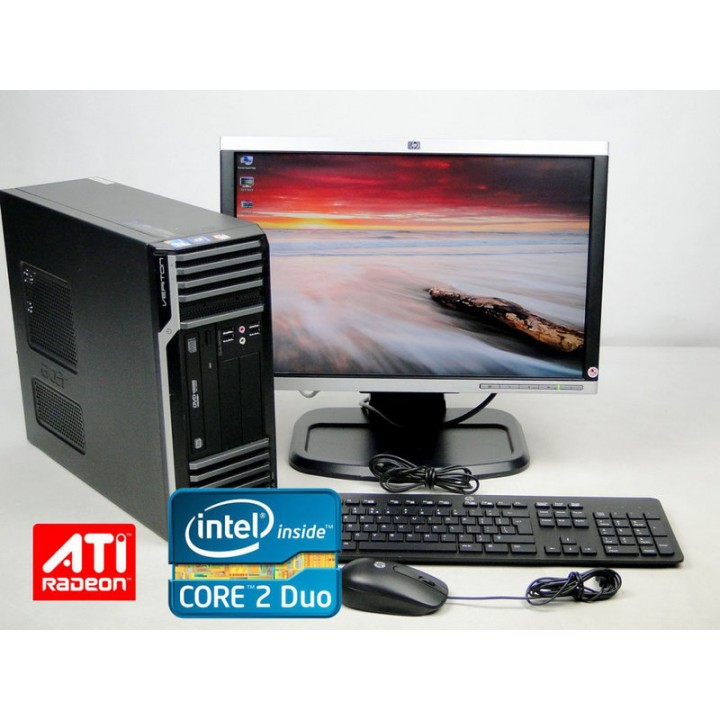 """Комплект ПК ACER S 480G DT 160 GB 4 GB (DDR 3) C2Duo 3.06 Ghz+Монитор 19"""" HP LA1905wg Б/у игровой+Подарки"""