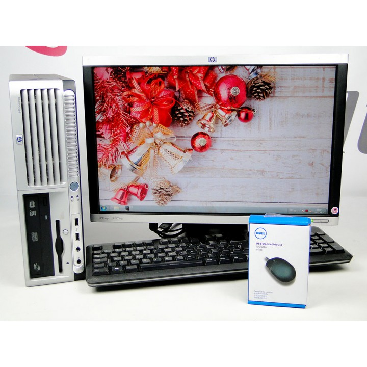 Комплект ПК HP Compaq dc7700 SFF 160 GB 2 GB(DDR 2) IC2D 1.8-HP LA1905wg+Подарки