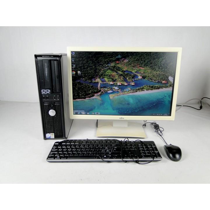 ПК DELL 745 (DT) 160 GB 4 GB (DDR 2) Intel Core2Duo 2.13 Ghz+Fujitsu B22W-5+Подарки