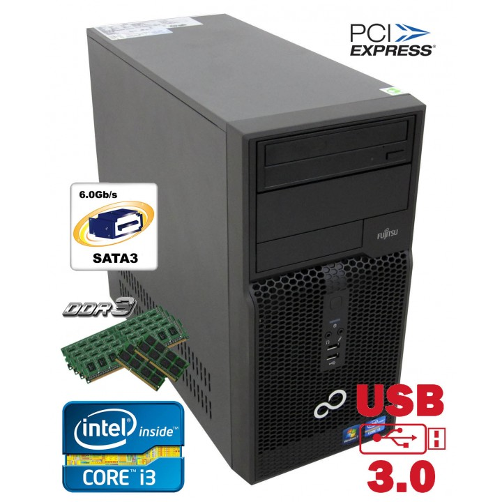 Системный Блок FS Esprimo P 510 MT 500 GB 4 GB (DDR 3) USB 3.0 Core i3-3220 3.3 Ghz Б/у игровой