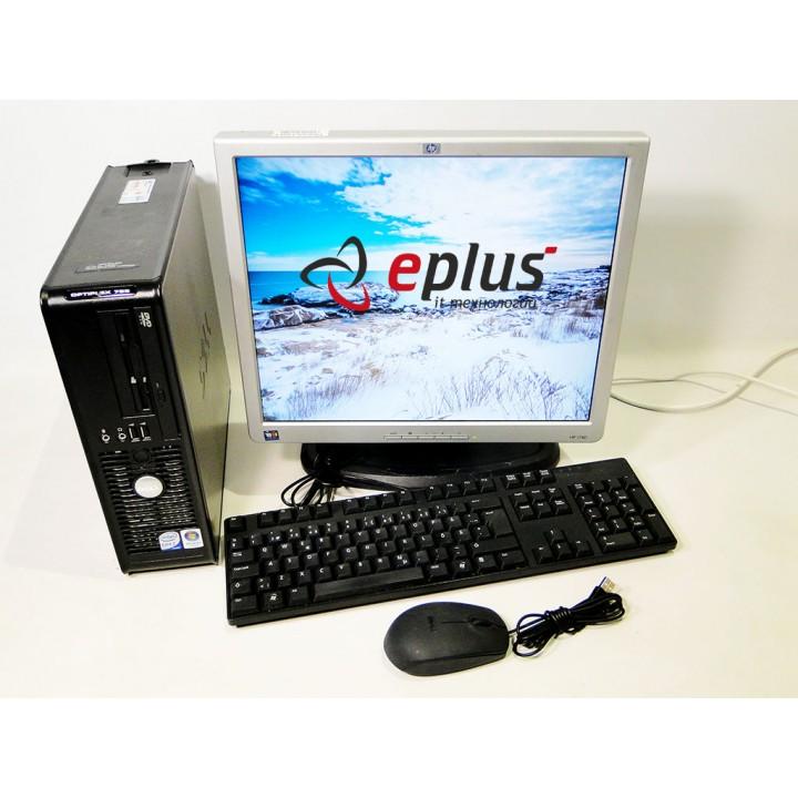 ПК DELL Optiplex 755 DualCore 2.0/ RAM 2 ГБ/ HDD 80 ГБ/ + HP L1740 Б/у