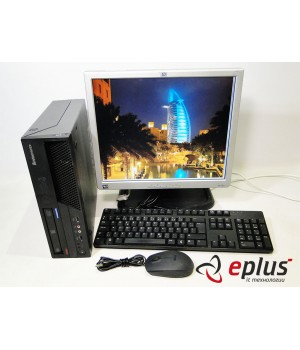 ПК LENOVO ThinkCentre M58 (SFF) HDD 160 GB/ RAM 4 GB/ CPU DC 2.8 + HP L1740 Б/у