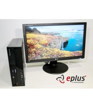Пк LENOVO ThinkCentre M58 (SFF) HDD 160 GB/ RAM 4 GB/ CPU DC 2.8 + LG W2442PE