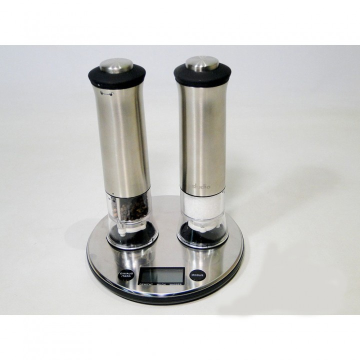 Весы кухонные INOTEC GT-KST-03 с Мельницами соли и перца (6 м. Гарантия)