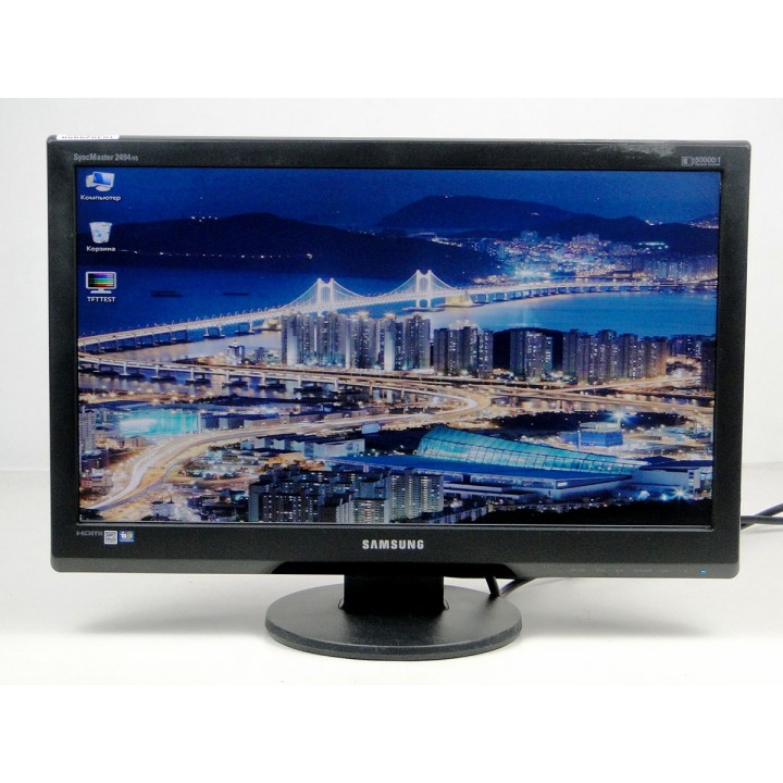 "Монитор 24"" SAMSUNG 2494HS TN+film Widescreen Black"